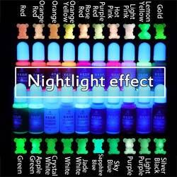 Сверкающий в темноте Высококонцентрированный эпоксидный УФ-смола окрашивающий краситель пигмент ручной работы DIY ювелирных изделий делая