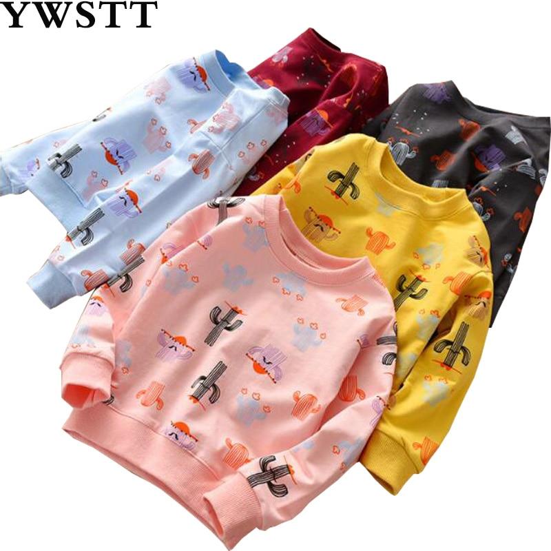 Sweatshirt Long-Sleeved Girls Children's New Bottoming Trend Wild-Round-Neck