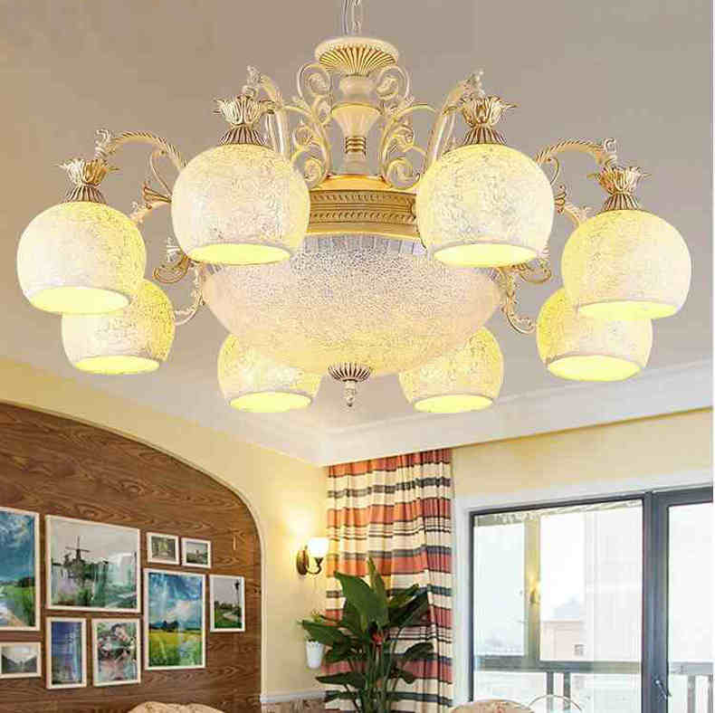 Gold Chandeliers Tiffanylamp Antique Sconce Tiffany Light Glass For Bedroom Living Room Ceiling Fixtures 220v 110v