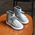 Novos 2015 Crianças Sapatos de Couro Genuíno de Alta Qualidade Da Menina do Menino de Alta Top Calçados Casuais Respirável Sapatos Macios de Algodão #2906