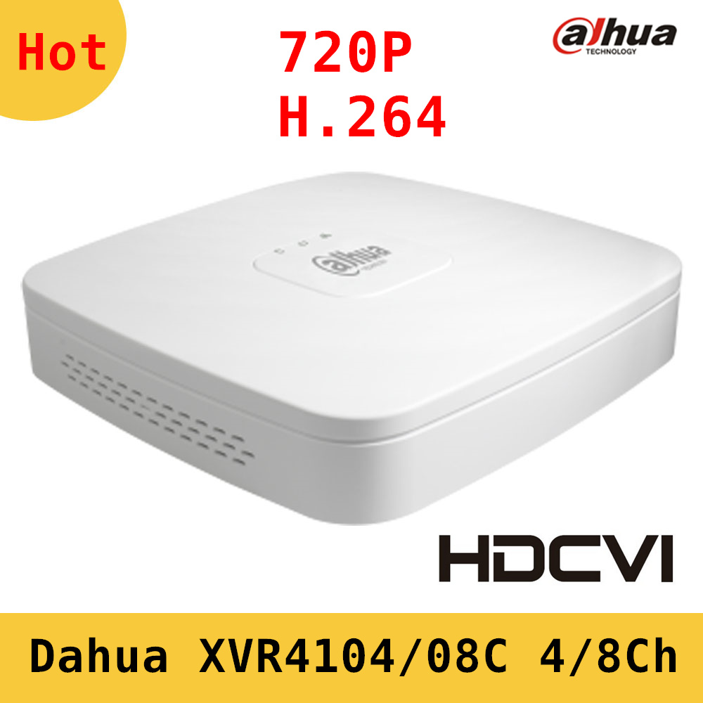 Dahua XVR video recorder XVR4104C XVR4108C 4ch 8ch 720P Support HDCVI AHD TVI CVBS IP video