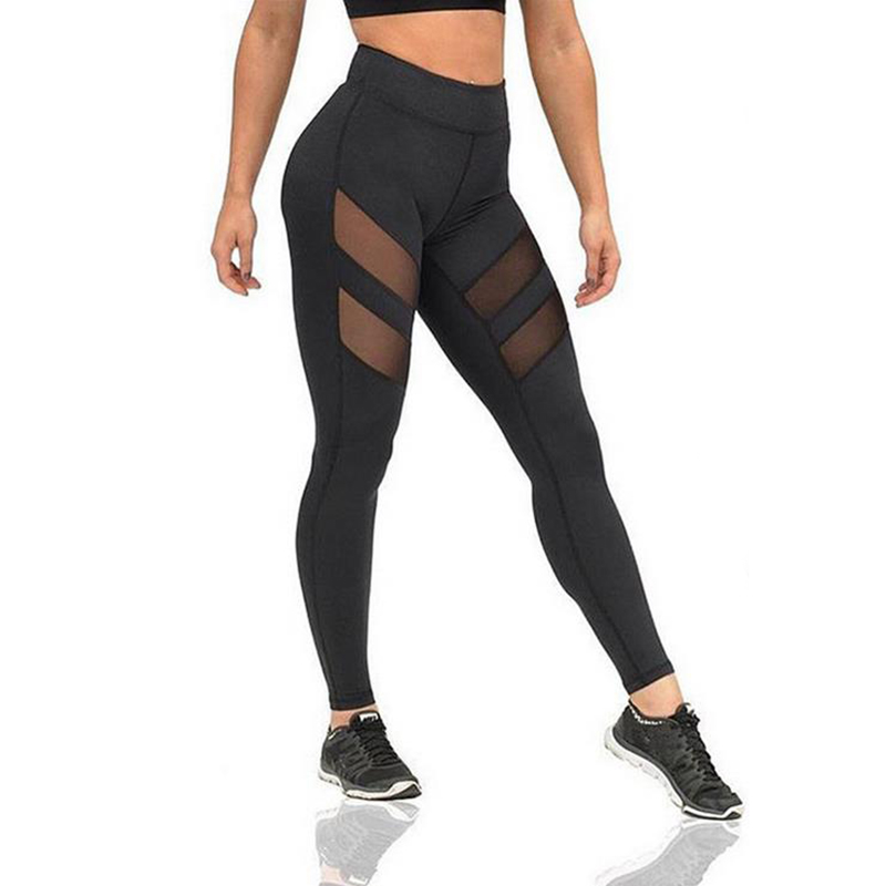 Sexy Sporting Butt Lifting Workout Leggings Women Leggings Fitness Mesh Jeggings Ladies Leggins Modis Pants Black Activewear
