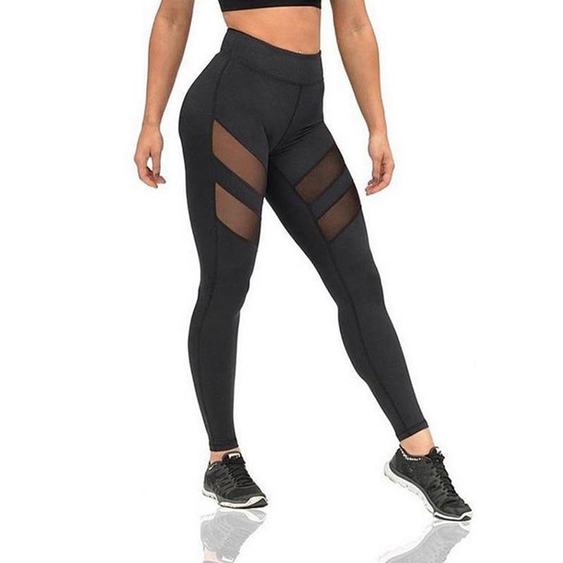 Sexy Sporting Butt Lifting Workout Leggings Women Leggings Fitness Mesh Jeggings Ladies Leggins Modis Pants Black Activewear