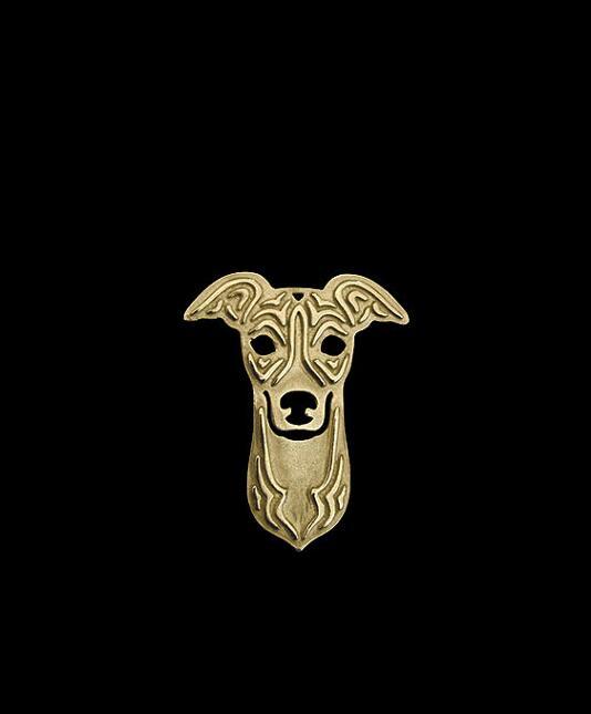 2016 Распродажа Broche оптовые продажи левретка брошь из золотистого металла щенки контакты Boho линии гравировки собака животных Броши