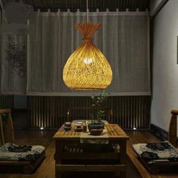 Японский сад ресторан droplight Юго-Восточной бамбука подвесные светильники Снэк Арт Бар балкон прохода лампы подвесные лампы zb1