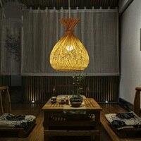Японский сад ресторан droplight Юго Восточной бамбук подвесные светильники закуски Книги по искусству бар балкон проход лампы, подвесные свети
