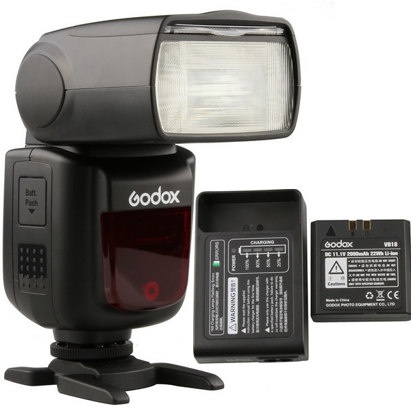 Luce del Flash Della fotocamera Speedlite Li-Ion di Ricarica Veloce Kit Hi-velocità di SINCRONIZZAZIONE V850 II