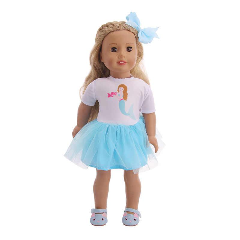 Куклы, одежда на возраст от 8 вещей: платье с Бесплатная головные уборы Единорог, Русалка, с крыльями бабочки для 18 дюймов американская кукла & 43 см для ухода за ребенком для мам Кукла-младенец