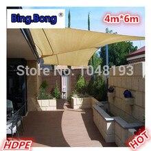 Sun-shading net sun network Heat insulation quality square anti-uv sun-shading sail 4*6m