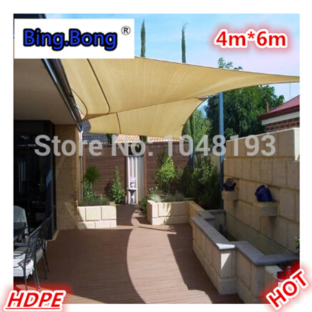 Sun Shade Sail Awning HDPE Network 46m Canopy Waterproof Outdoor Garden Toldo Shading