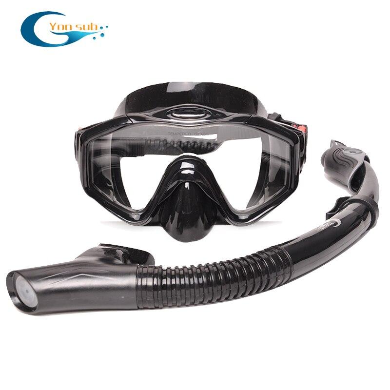 Équipement professionnel de plongée pour adultes avec masque et tuba palmes réglables Set équipement de plongée pour la chasse sous-marine natation - 2