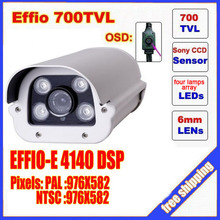2014 top fasion direct selling video camera ccd sony effio four lamps array led infrared camera osd menu waterproof ir 50m c80h