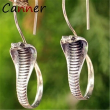 CANNER Vintage Cobra Earrings 2019 Dangle/Drop Earrings for Women Earings Fashion Jewelry Snake Earrings Gold/Silver brincos FI цена и фото