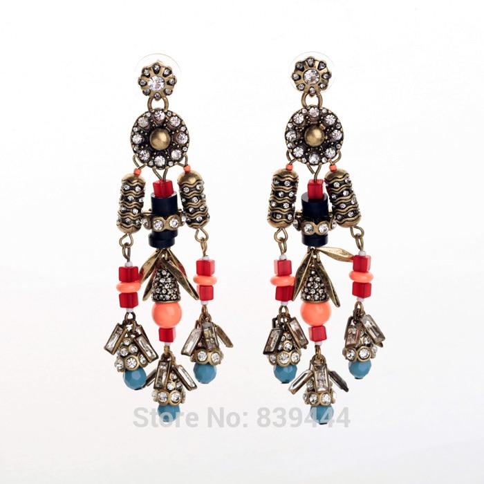 New Arrival Promotions Vintage Rhinestone Luxury Women Favourite Drop Earrings
