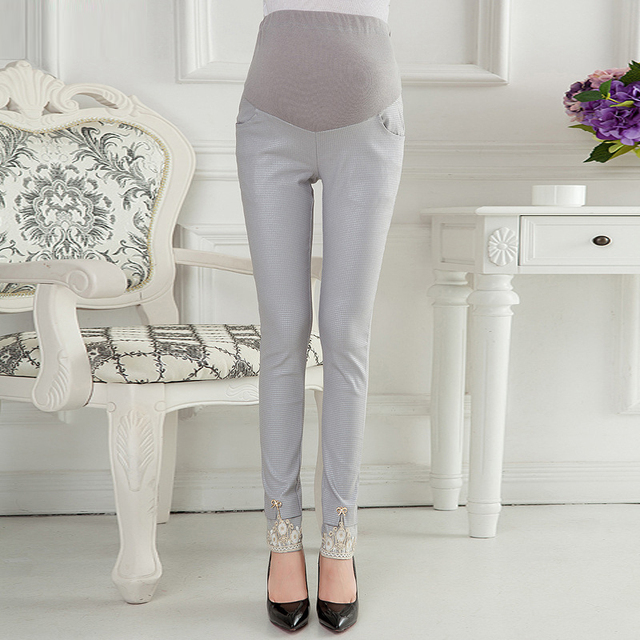 MamaLove Style Maternity Pants Skinny pregnancy Pants cotton Maternity trousers For Pregnant Women Pregnancy Capris