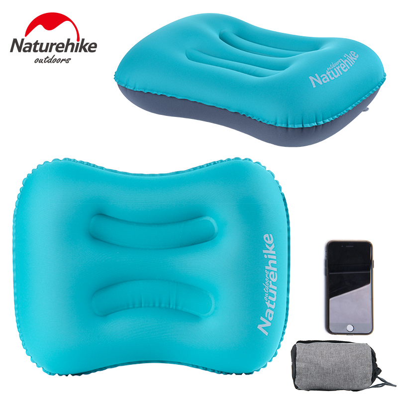 Naturehike Inflatable Outdoor Camping Aeros Pillow Ultralight Travel Pillow with Pillowcase хайлайтер catrice dewy wetlook stick 010 цвет 010 splash n glow variant hex name f3e4e4