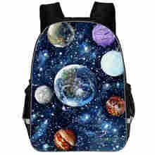 Galaxy Backpack Universe Space Solar For Teenagers Boys Girls Toddler Animal Kid School Book Bags Men Women Rock Mochila Bolsa