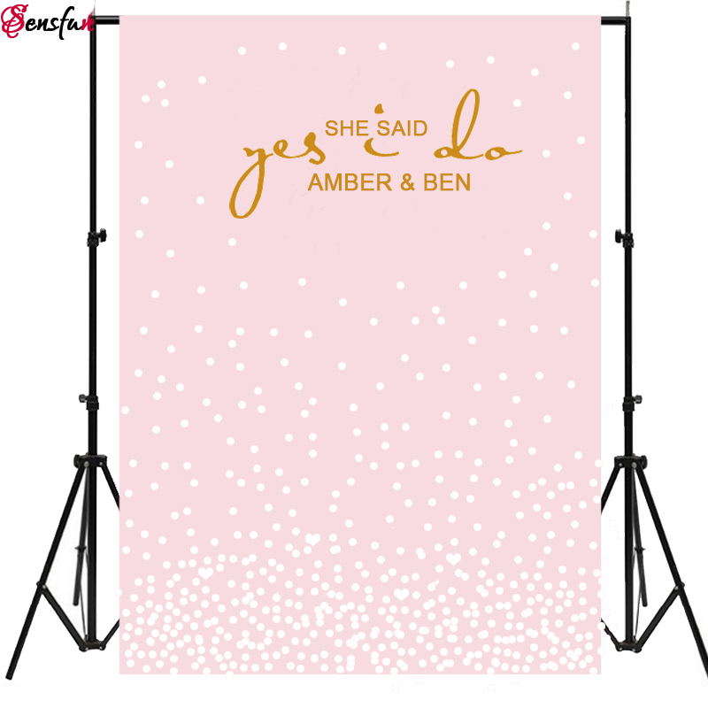 Vinyl Photography Background Custom Wedding Blackboard Name Date Photocall Photography Glitter Photo Booth Backdrops shengyongbao 300cm 200cm vinyl custom photography backdrops brick wall theme photo studio props photography background brw 12