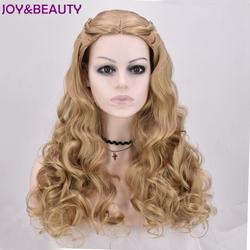 Радость и красоты Длинные свободные волны Косплэй Парики жаропрочных синтетические волосы 60 см длинные для принцессы парик