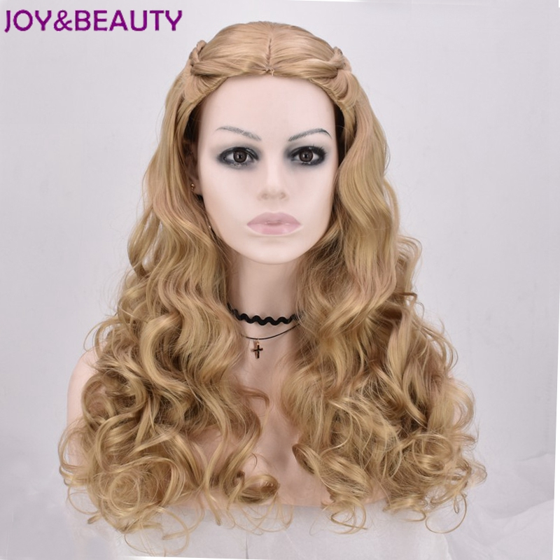JOY&BEAUTY Long loose Wave Cosplay Wigs Heat Resistant Synthetic Hair 60cm Long For princess wig