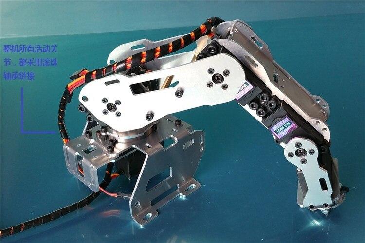 Industrial Robot A528 Mechanical Arm 100% Alloy Manipulator Robot arm Rack with 4 Servos