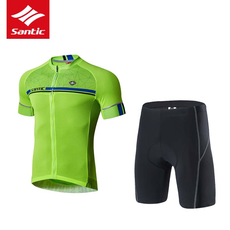 цена на Santic Cycling Jersey Set Men Summer Breathable Pro Cycling Clothing MTB Road Bike Bicycle Jersey Suits Ropa Ciclismo Bicicleta