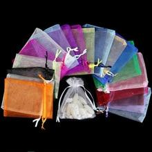 100pcs 24 Colors Jewelry Bag 7x9 9X12 10x15 13x18cm Wedding