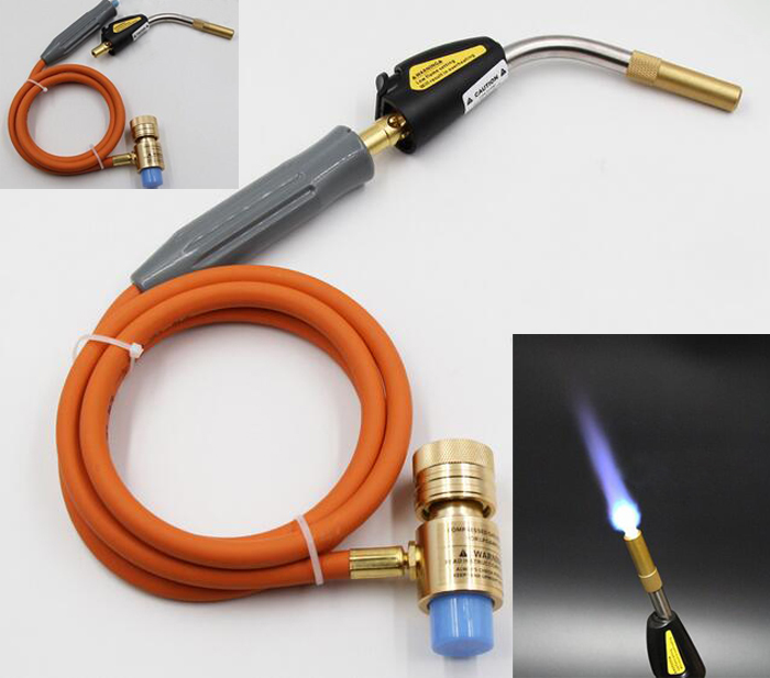 Gas Self Ignition Turbo Torch with Hose MAPP Soldering Propane Welding Torch for Plumbing Air Conditioning