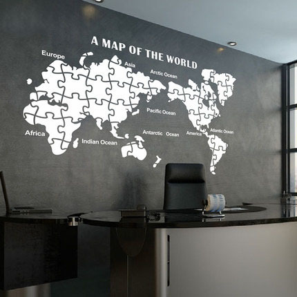 World map vinyl sticker home decor bedroom living room restaurant world map vinyl sticker home decor bedroom living room restaurant removable decor wall art wall sticker publicscrutiny Images