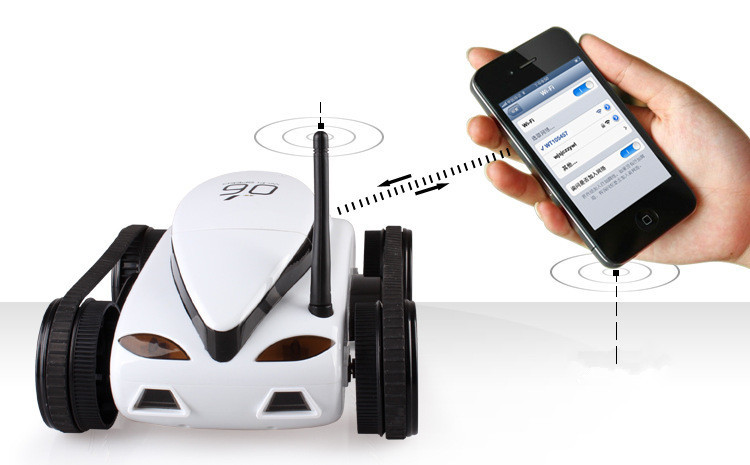 2 4G 4CH tank Wifi Mobile Control Iphone Ipad tank car electronic Remote  Control With video Camera Advanced smart RC robot Toy