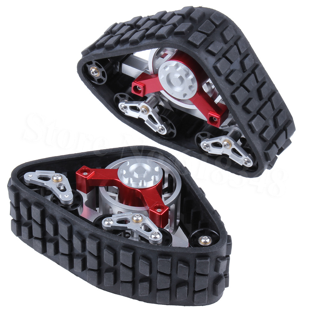 2-pack Tanky All Terrain Tracks Wheels For 1/10 RC AXIAL SCX10 Wraith Rock Crawler Truck Upgrade part купить в Москве 2019