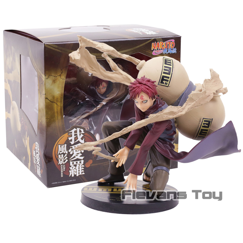 Naruto Shippuden Kazekage Gaara Battle Ver. PVC Figure Collection Model ACGN Figurine Toy