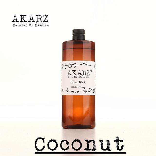 Cocos AKARZ Famosa marca de coco puro óleo de aromaterapia natural de alta-capacidade da pele cuidados com o corpo massagem spa óleo essencial de coco