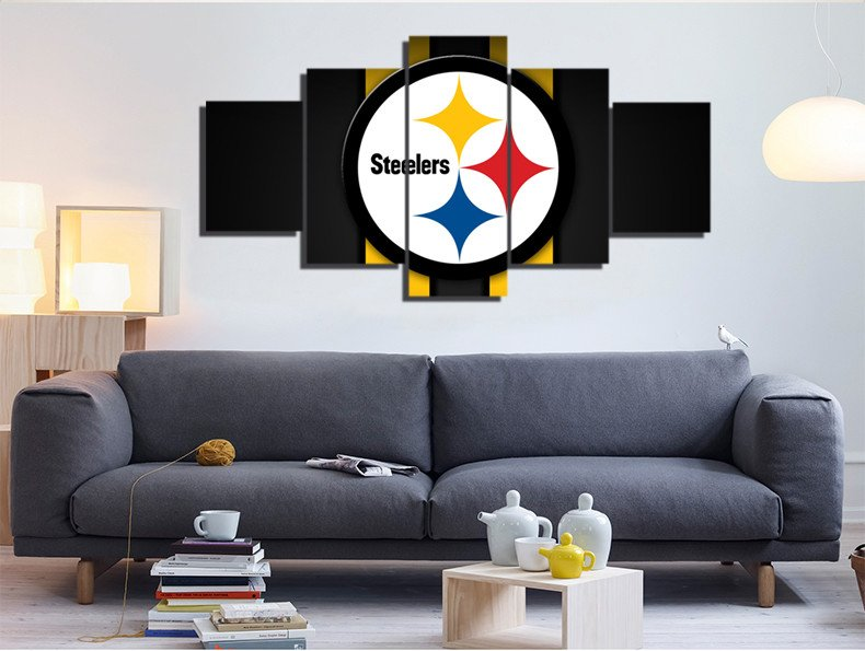 Modular Wall Painting 5 Panels Pittsburgh Steelers Sports