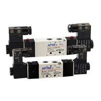 Dos posiciones de cinco válvula de solenoide de 4V120-06-A AC220V 4V120-06-B DC24V 4V220-08-A AC220V 4V220-06-B DC24V 4V220-08-B DC24V