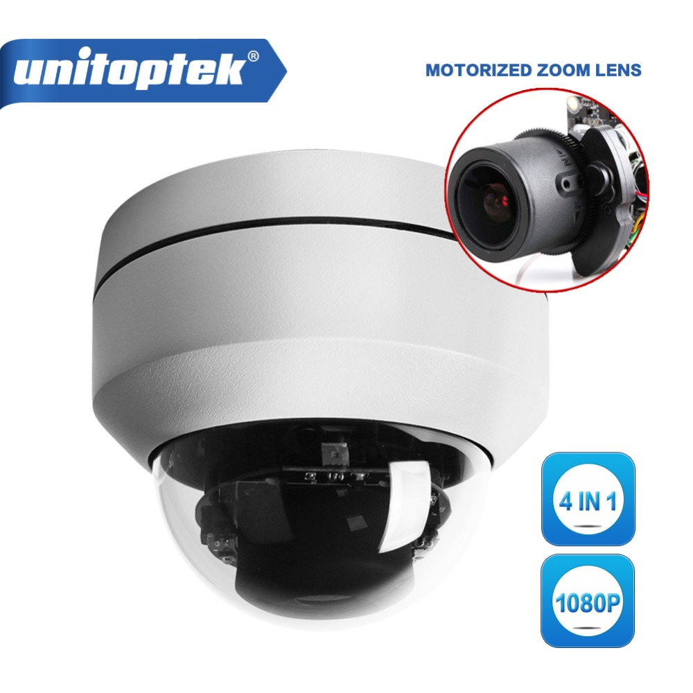 4 In 1 AHD CVI TVI Dip Switch PTZ Dome Camera 2.5 Inch 2MP 1080P 3X Optical Zoom Auto Iris Outdoor Night Vision IR 20m OSD Menu