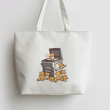 THE ORIGINAL COPY CAT Japanese Anime Canvas Tote bag Cartoon Shopping bags school Shoulder Reusable Shopper Grocery Bag AN284