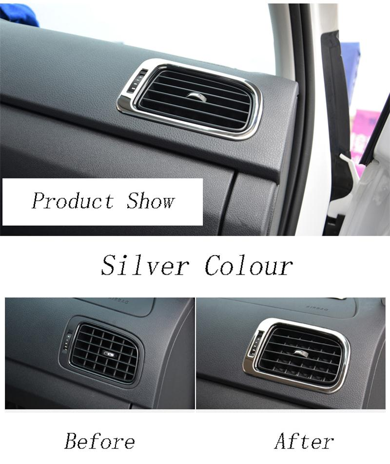 Автомобильный Стайлинг для Volkswagen vw POLO, накладка, аксессуары для интерьера, кондиционер, на выходе, декоративная крышка, наклейка, авто аксессуары