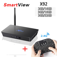 Оригинальный X92 2 ГБ/16 ГБ 3 ГБ/32 ГБ Android ТВ Box Amlogic S912 Восьмиядерный kd плеер 16.1 полностью загружен 2.4 ГГц/5.8 г Wi-Fi 4 К Декодер каналов кабельного телевидения