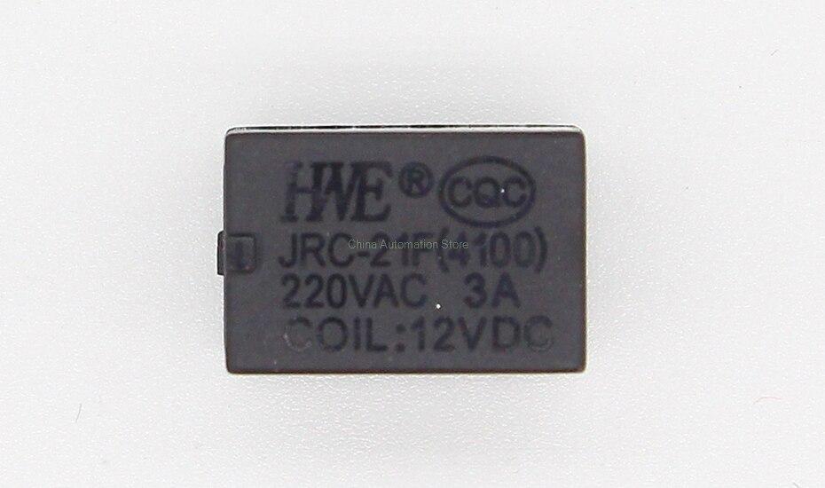 Miniature bobine PCB relais de puissance DPDT 12/VDC 5/A Lot de 1