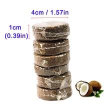 Сжатый Coir Pith гранулы коко торф волокна диск гидропоники почвы заглушки растений трава пополнения комплект суккулент горшки среднего рыбий пыли