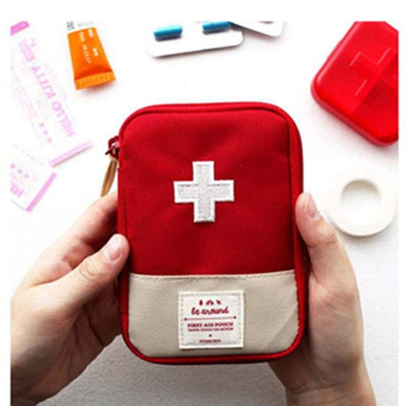 Kit de primeiros socorros médica portátil viagem acampamento ao ar livre útil mini saco de armazenamento de medicina de acampamento de emergência saco de sobrevivência caso pílula