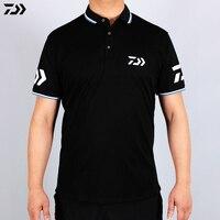 DAIWA Summer Fishing T Shirt Quick drying Breathable Fishing Clothes Anti UV Sun Protection Short Sleeve Fishing Dawa Clothing