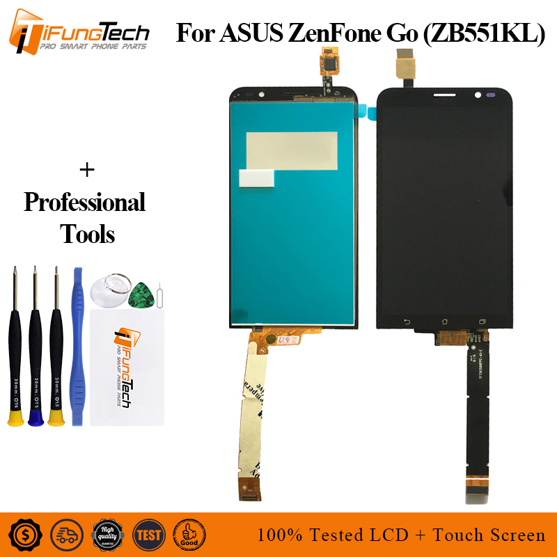 5.5'' For <font><b>Asus</b></font> ZenFone Go TV ZB551KL <font><b>X013D</b></font> X013DA X013DB X013DC Full LCD DIsplay + Touch Screen Digitizer Assembly + Frame Cover image