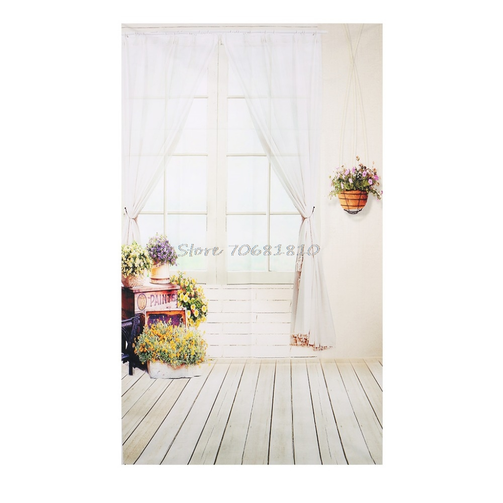 3x5FT Window Curtain Flower Studio Photography Backdrops Photo Background Props R179T Drop Shipping