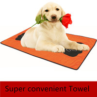 Pet Dog Bath Towel Absorbent Mats Chien Grooming Paw Print Massage Wet Wipes Mattresses Multifunctional Dog
