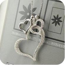 FAMSHIN 2016 New korean network accessories scrub heart fashion necklace