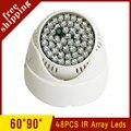 Plástico interior de Vigilância 48 Pcs 12mil IR 850nm Led Infravermelho Night Vision iluminador Lâmpada Frete Grátis