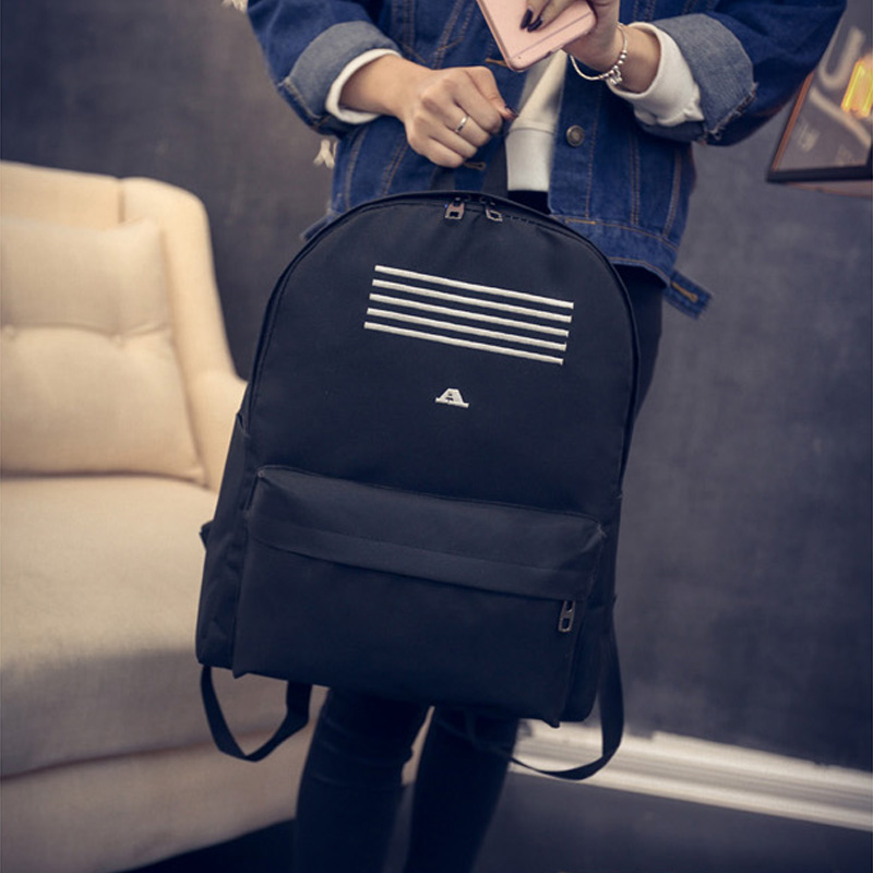 RU&BR Fashion Nylon Casual Striped Backpack High Quality Travel Bags For Teenagers Hot Sale Boy & Girls Shoulders Mochila hot selling high quality waterproof men women military casual backpack large travelling casual bags mochila escolar boy gifts