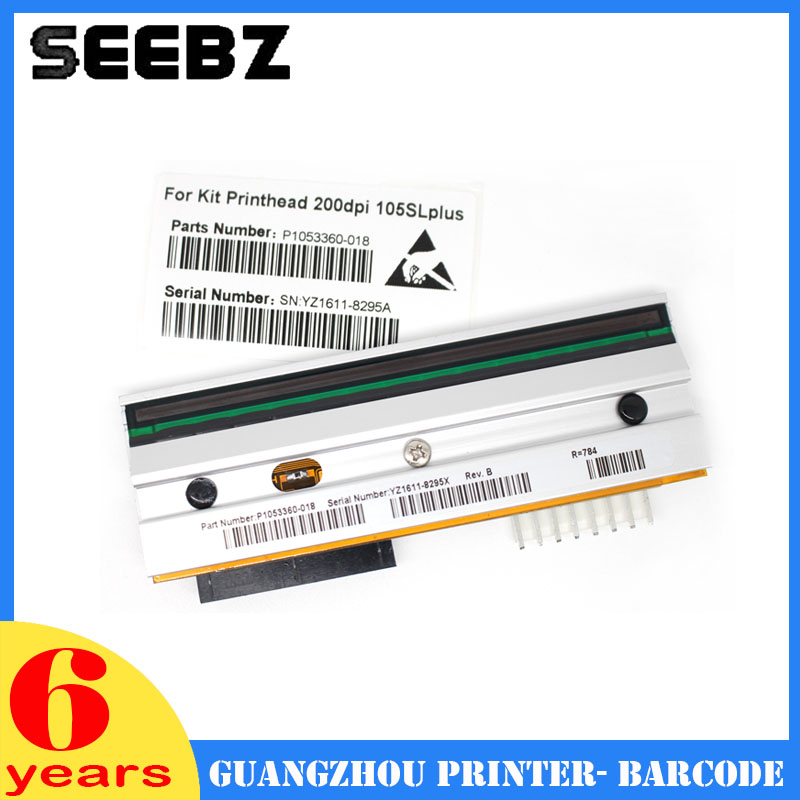 SEEBZ Printer Supplies New Compatible P1053360-18 Barcode Label Print Head Themal Printhead For Zebra 105sl Plus 203DPI free shipping new compatible zebra s600 printhead g44998 1m oem s600 printhead printer head 203dpi barcode printer head